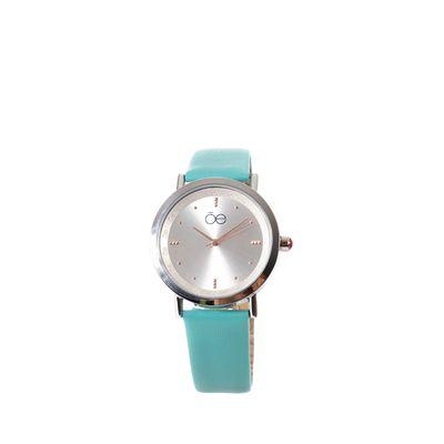 Reloj Acero y Extensible en Piel en Color Turquesa