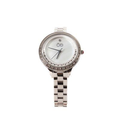Reloj Acero Inoxidable y Acabado Nacar en Color Plata