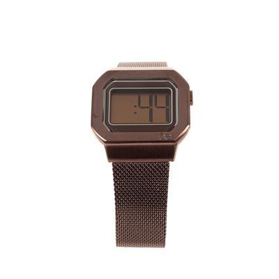 Reloj Digital de Acero Inoxidable en Color Chocolate