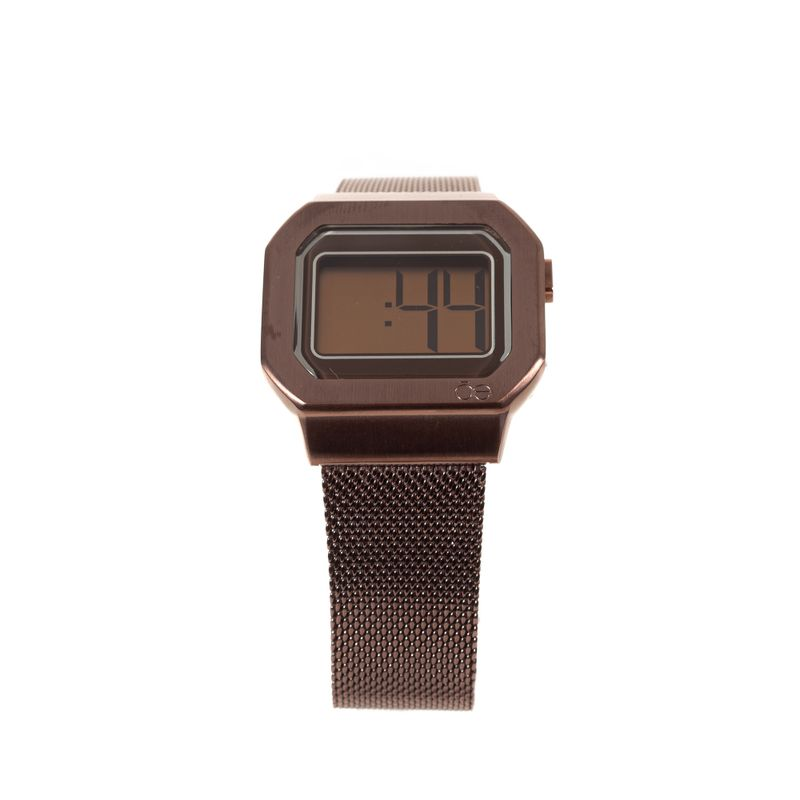 Reloj-Digital-de-Acero-Inoxidable-en-Color-Chocolate-|-Cloe