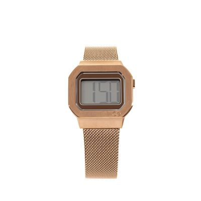 Reloj Digital de Acero Inoxidable en Color Copper