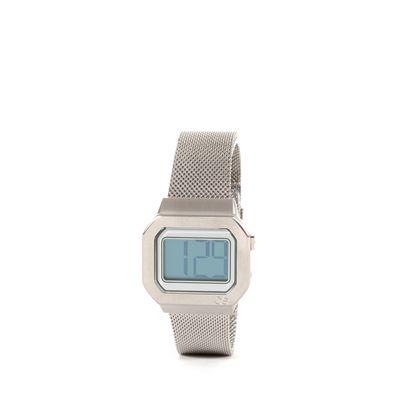 Reloj Digital de Acero Inoxidable en Color Plata