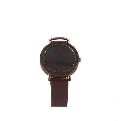 Reloj Madera y Piel en Color Chocolate