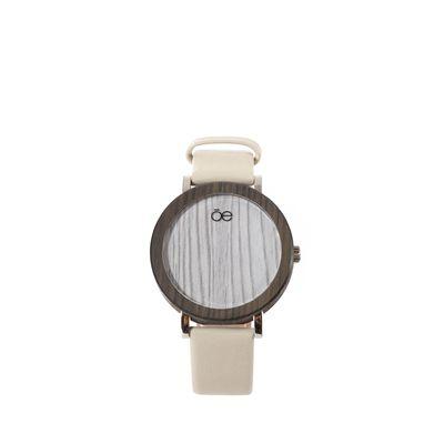 Reloj Madera y Piel en Color Beige