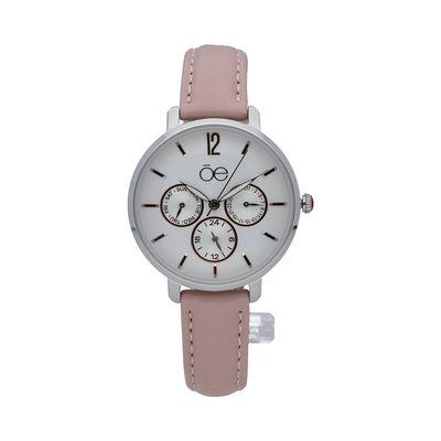Reloj Clásico con Extensible en Piel en Color Rosa