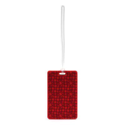 Etiqueta para Identificación de Maleta en Color Rojo