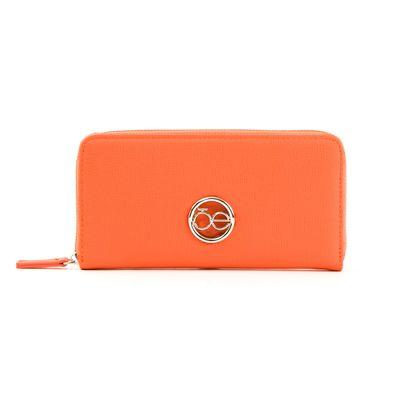 Cartera Cierre Sencillo Cloe en Color Naranja