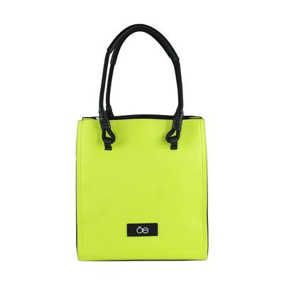 Bolsa Satchel con Asa Tubular en Color Amarillo