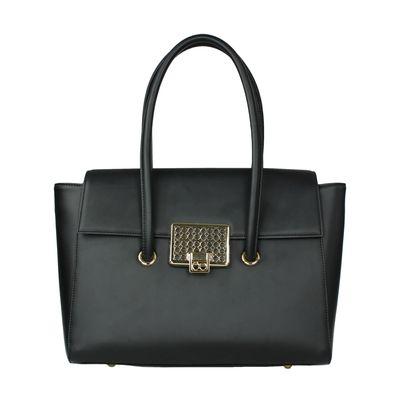 Bolsa Briefcase con Broche en Color Negro