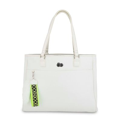 "Porta Laptop 15"" con Pendant de Peluche en Color Blanco"
