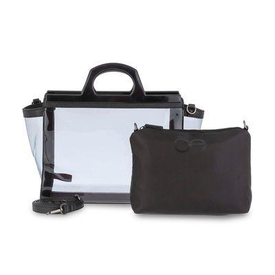Bolsa Satchel Transparente en Color Negro