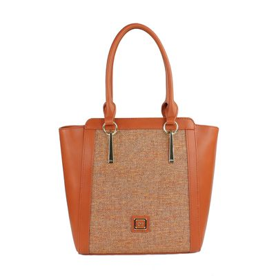 Bolsa Tote Jaspeado en Color Tan