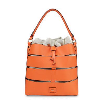 Bolsa Hobbo con Cortes y bolso Interno en Color Naranja