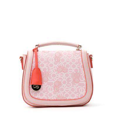 Bolsa Crossbody con Colgante en Color Rosa