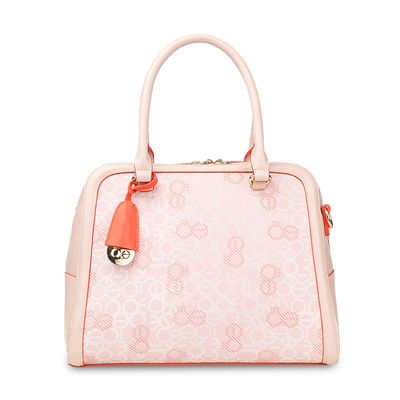 Bolsa Crossbody con Colgante en Color Rosa