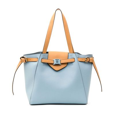 Bolsa Tote Bicolor 2 en 1 en Color Azul