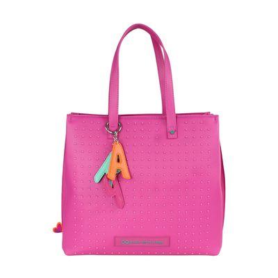 Bolsa Tote Cloe by Agatha Ruiz de la Prada con Estoperoles en Color Magenta
