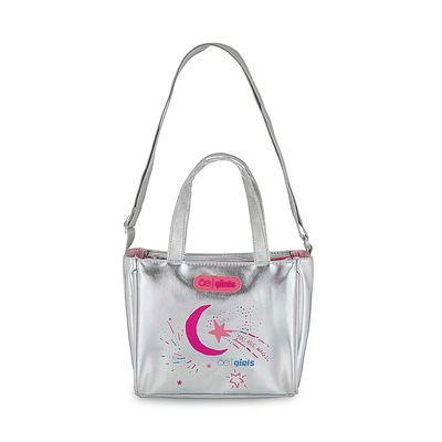 Bolsa Satchel Cloe Girls Luna en Color Plata