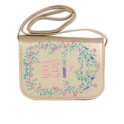 Bolsa Crossbody Cloe Girls Cuento de Hadas en Color Oro