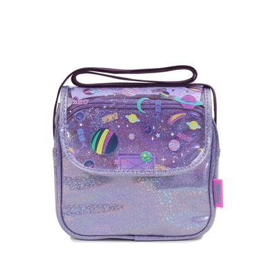 Bolsa Crossbody Cloe Girls de Mica Transparente en Color Morado