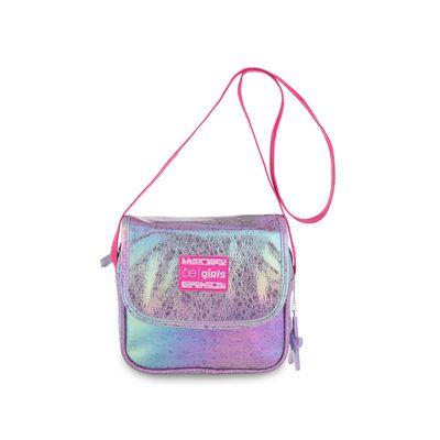 Bolsa Crossbody Cloe Girls Glitter en Color Lila