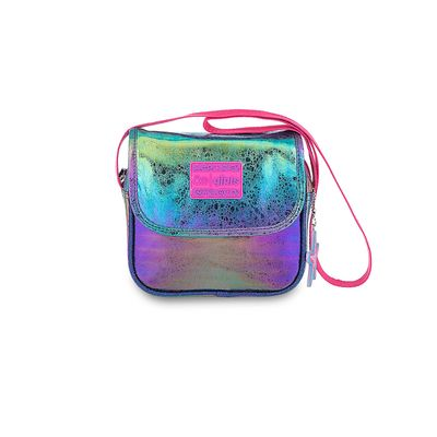 Bolsa Crossbody Cloe Girls Glitter en Color Marino