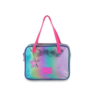 Bolsa Satchel Cloe Girls Glitter en Color Marino