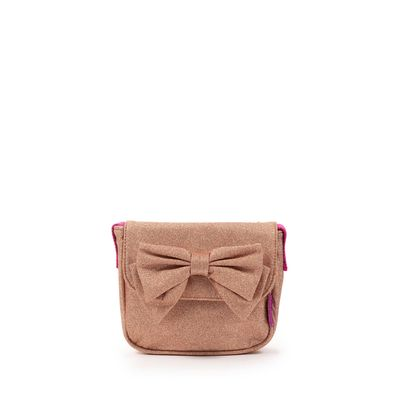 Bolsa Crossbody Cloe Girls con Moño en Color Oro