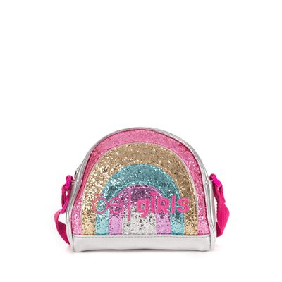 Bolsa Crossbody Cloe Girls Arcoíris en Color Plata
