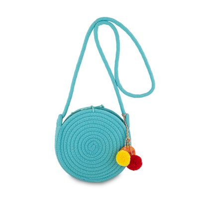 Bolsa Crossbody Cloe Girls Tejido en Color Azul