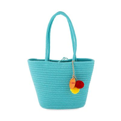 Bolsa Tote Cloe Girls Tejido en Color Azul
