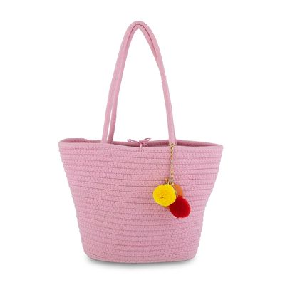 Bolsa Tote Cloe Girls Tejido en Color Rosa