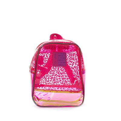Mochila Cloe Girls Transparente en Color Rosa