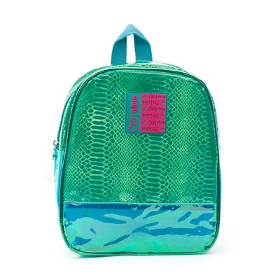 Mochila Cloe Girls Metalizado en Color Verde