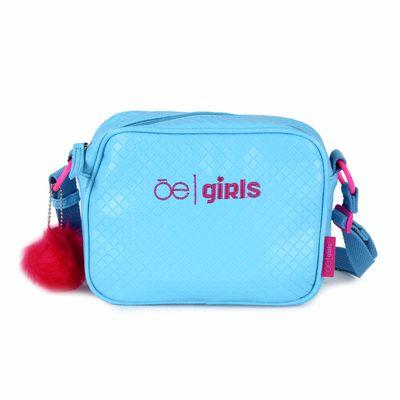 [SECOND 30OFF] Bolsa Crossbody Cloe Girls con Textura en Color Azul