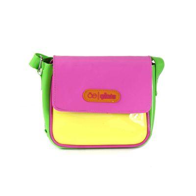 [SECOND 30OFF] Bolsa Crossbody Bloques de Color en Color Amarillo