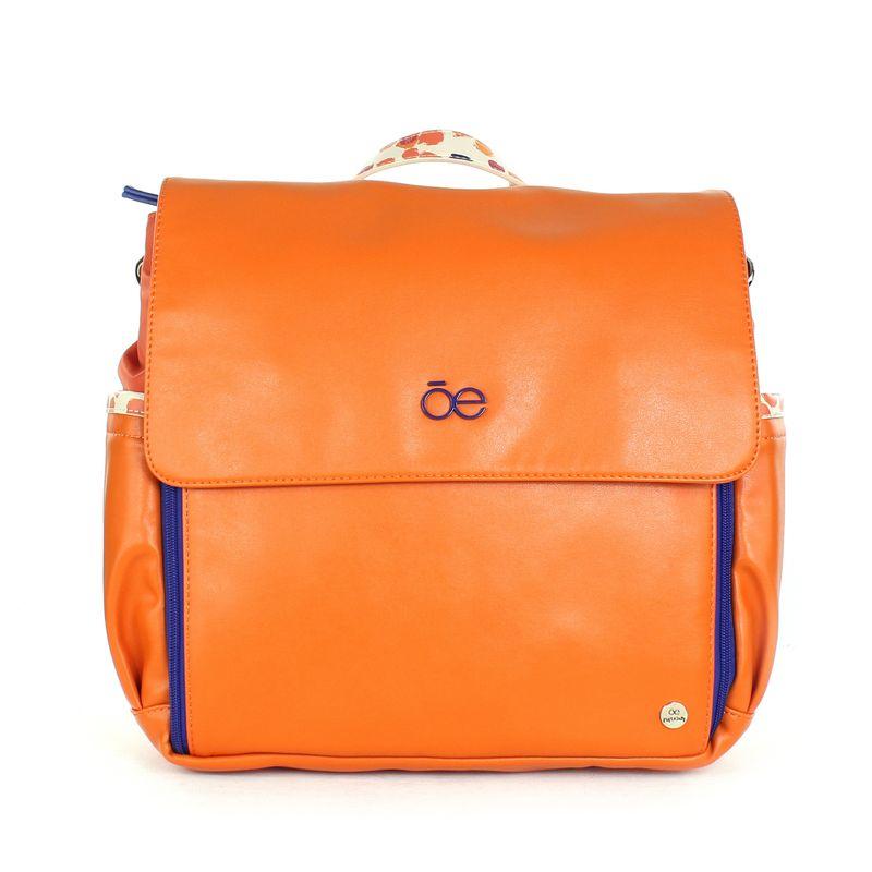 Pañalera-Mochila-Mom---Baby-con-Cambiador-Incluido-en-Color-Naranja-|-Cloe