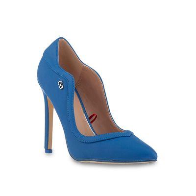 Zapatilla Puntal Corte Ondulado en Color Azul