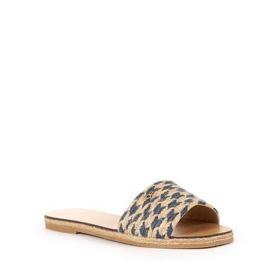 Sandalia de Piso Yute Tejido en Color Marino