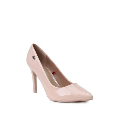Zapatilla Puntal de Charol con Comfy Step en Color Rosa