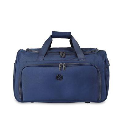 Duffle Bag Detalles Metálicos en Color Marino
