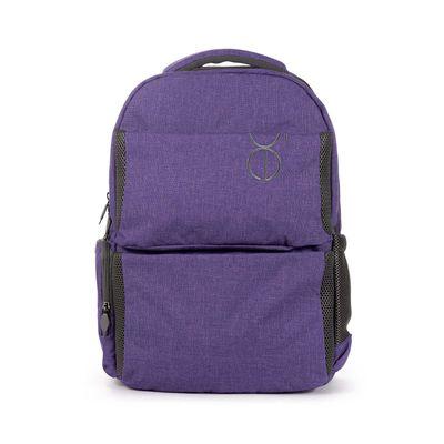 """Mochila Porta Laptop 16"""" Acabado Jaspeado en Color Morado"""