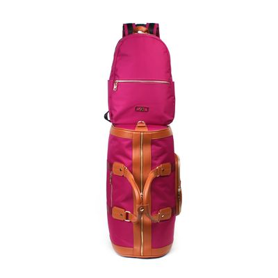 Set Dufflebag y Mochila en Color Magenta