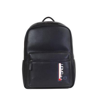 """Mochila Porta Laptop 14"""" Uomo de Piel en Color Negro"""