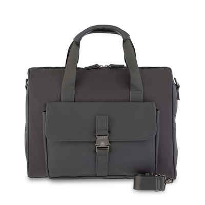 "Duffle Bag Porta Laptop 14"" Uomo en Color Gris"