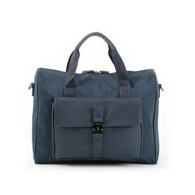 "Duffle Bag Porta Laptop 14"" Uomo en Color Marino"