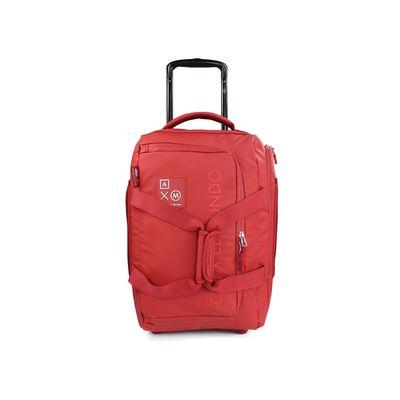 """[SECOND 30OFF] Duffle bag 20"""" con Ruedas Cloe Alan Por El Mundo en Color Rojo"""