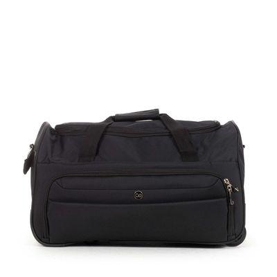Duffle Bag Suave Al Tacto en Color Negro