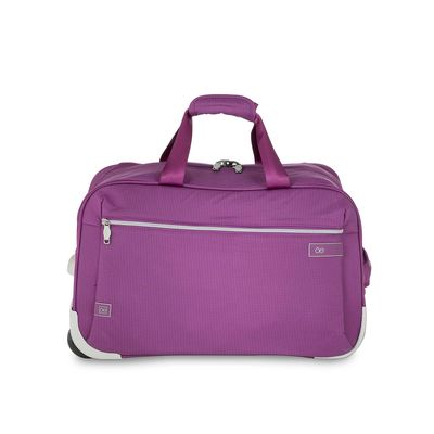 Duffle Bag con Ruedas en Color Morado