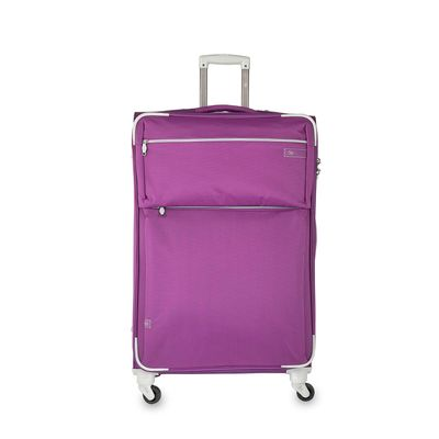 "Maleta Vertical de 28"" en Color Morado"